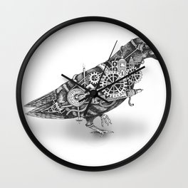 Roly the Steampunk Pigeon Wall Clock