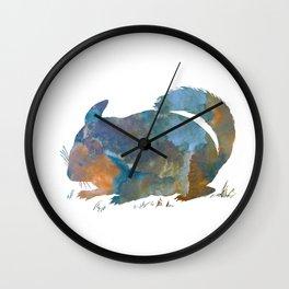 Chinchilla art Wall Clock