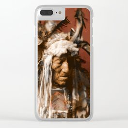 Lean Wolf - Hidatsa - American Indian Clear iPhone Case