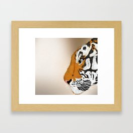Tiger Profile Framed Art Print