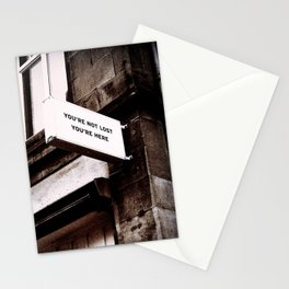 Inspirational Quote-You are Not Lost, You are Here Stationery Cards