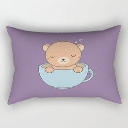 Kawaii Cute Coffee Brown Bear Rectangular Pillow