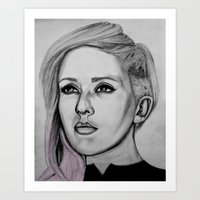 ellie goulding Art Prints featuring Ellie Goulding by CBDB