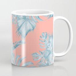 Dreaming of Hawaii Pale Teal Blue on Coral Pink Coffee Mug
