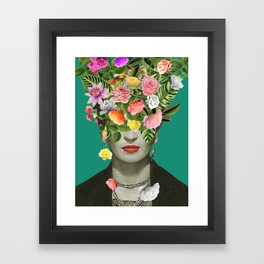 Frida Floral Framed Art Print