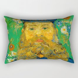 Vincent van Gogh - Portrait of the Postman Joseph Roulin (1888) Rectangular Pillow