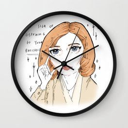 scully is sick of your BS Wall Clock