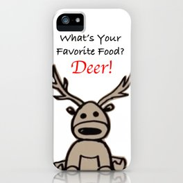 What's Your Favorite Food? iPhone Case