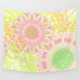 Hand Drawn Floral & Mandala 07 Wall Tapestry