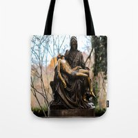 religious Tote Bags featuring Religious by Nevermind the Camera
