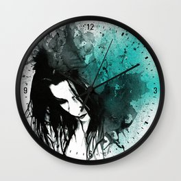 This Confession Means Nothing: Turquoise Wall Clock