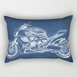 Diavel Carbon Blueprint Rectangular Pillow