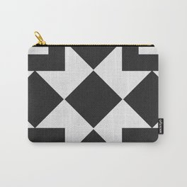 Black & White Tile Pattern Carry-All Pouch