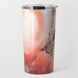 Rosa Rugosa Abstract Travel Mug