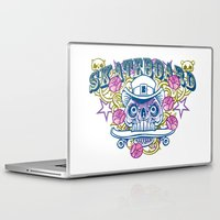 skateboard Laptop & iPad Skins featuring Skateboard print by Komiksar