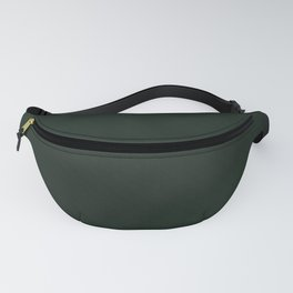 Black-green textured. Fanny Pack