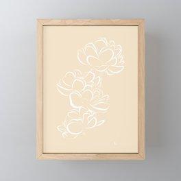 Four Flowers (White and Cream) Framed Mini Art Print