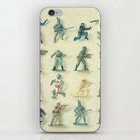 army iPhone & iPod Skins featuring Broken Army by Cassia Beck
