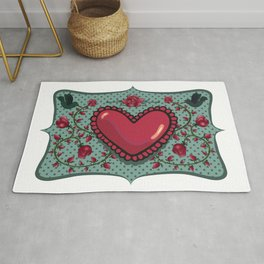 love and roses Rug