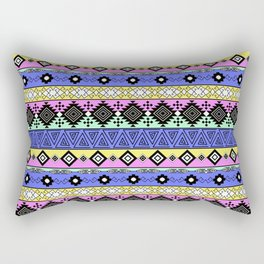 Ornament in the style of hippies 1. Rectangular Pillow