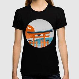 Japanese Shinto at Morning T-shirt