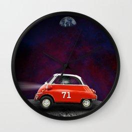 Coche lunar Wall Clock