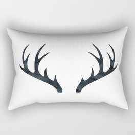 Antlers Black and White Rectangular Pillow