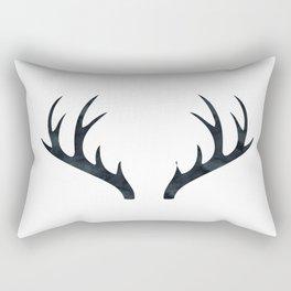 Antlers Black and White Rectangular Pillow