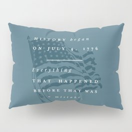 P + R History Pillow Sham