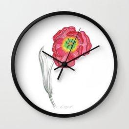 Tulip 01 Botanical Flower Wall Clock