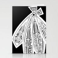 blackhawks Stationery Cards featuring Inverted Chicago Blackhawks by Alexandra Nee