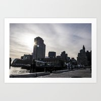 An Afternoon on the Harbor Art Print