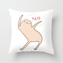 Honest Blob Says No Throw Pillow