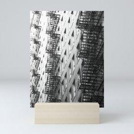 Chicago fire escapes Mini Art Print
