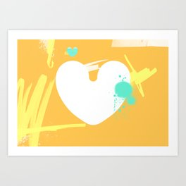 Where do I connect to your heart? Art Print