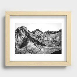 Black Dust on Solheimajokull Recessed Framed Print