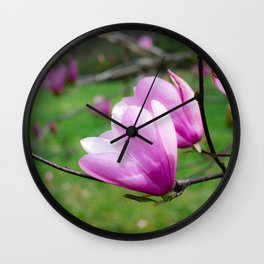 Tulip Flower on Tree Wall Clock