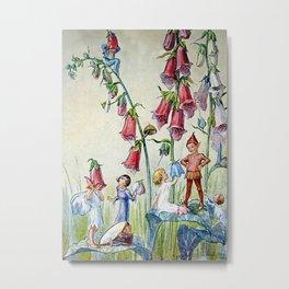 """Foxglove Hat Shop"" by Margaret Tarrant Metal Print"