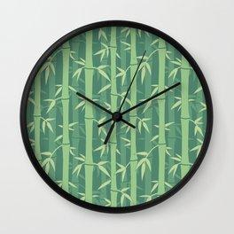 Japanese Neck Gator Japanese Pattern. Bamboo Wall Clock