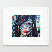 tiffany Framed Art Prints featuring Tiffany by Katy Hirschfeld