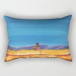 Gaucho at the Blood River Rectangular Pillow