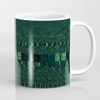 glitch Mugs featuring Glitch by Pudding