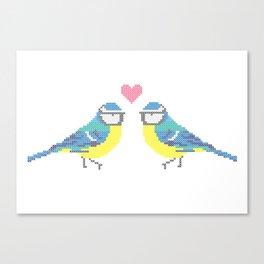 Stitch X Birds Canvas Print