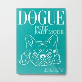 DOGUE MAGAZINE Pure Fart Mode Edt Green Metal Print