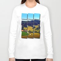 hiking Long Sleeve T-shirts featuring Hiking through springtime scenery by Patrick Jobst
