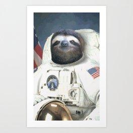 Sloth the USA Astronaut Art Print