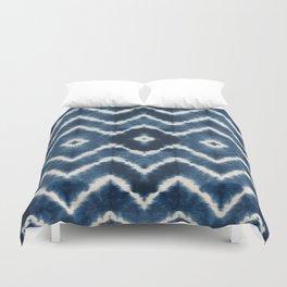 Shibori, tie dye, chevron print Duvet Cover