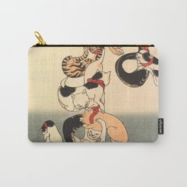 Cats forming the Characters for Catfish by Utagawa Kuniyoshi Carry-All Pouch