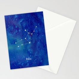 Constellation Virgo Stationery Cards