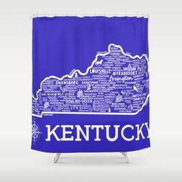 Kentucky Map Shower Curtain